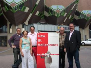 De initiatiefnemers van het eerste uur. V.l.n.r.: Jan-Pieter Klumpers, Henriëtte Verouden, Michael Rieter, Sjef Warmerdam en Lex Coolen